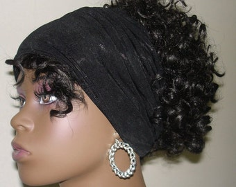 Knit Hair Tube BLACK