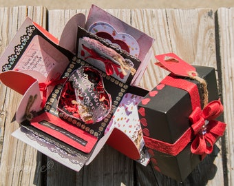 exploding box / gift for valentine's day / love / memory box