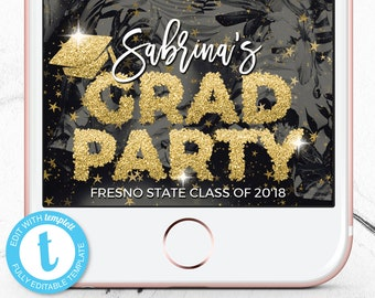 Graduation Party Snapchat Filter, Grad Party Snapchat GeoFilter, Graduation Geotag, Custom Graduation Snap Chat Geo Filter, Class of 2018