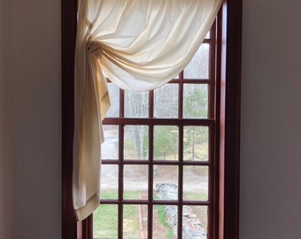 100% Cotton Muslin Window Treatment