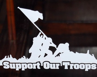 Support our troops vinyl decal window sticker new