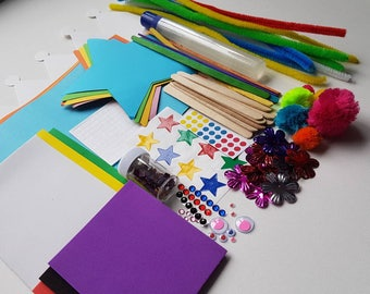 Imagination craft box for kids - fun craft supplies to inspire imagination and creativity