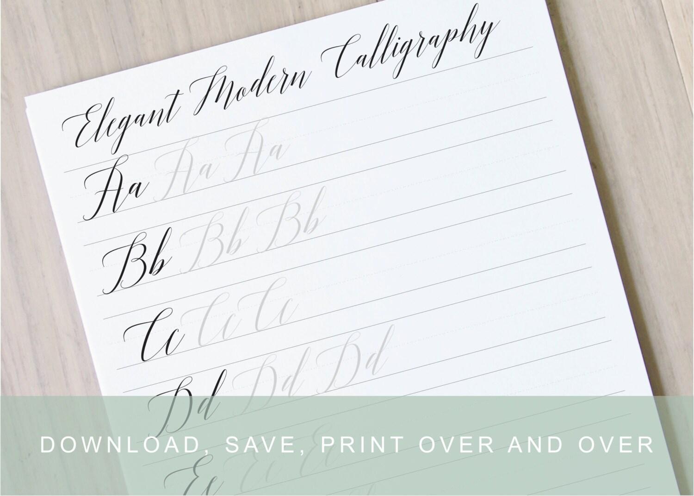 Worksheets Printable Calligraphy Worksheets elgant modern calligraphy lettering worksheets calligraphy