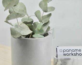 Big grey concrete pot, grey concrete planter, concrete vase, concrete vessel