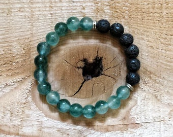 Essential Oil Diffuser Bracelet - Natural Jade