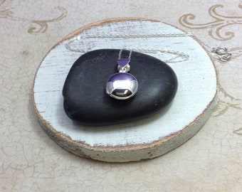 Silver round locket, Sterling locket jewelry, treasure box, teen gift, Christmas gift, photo locket,