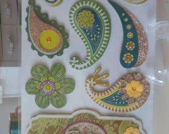 Paisley Stickers Embellishments