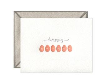 Happy Easter letterpress card - single