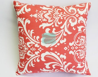 Pillow Cover - Premier Prints - OZBOURNE - Coral White - Home Decor Sofa Throw Pillow-Cover with Zipper Enclosure - All Sizes