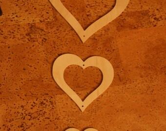 Heart 3 pieces