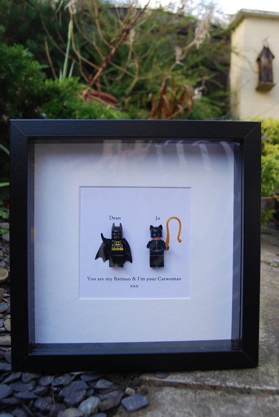 Batman & Catwoman Personalised frame The Bat and The Cat
