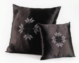 modern Bedouin embroidery- decorative pillows , embroidery handbags , men , home , office .
