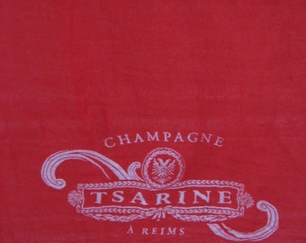Tsarine Champagne Red French Scarf. Large vintage floaty sarong. Reims, France. Wine lover gift. Anniversary birthday present for her / wife