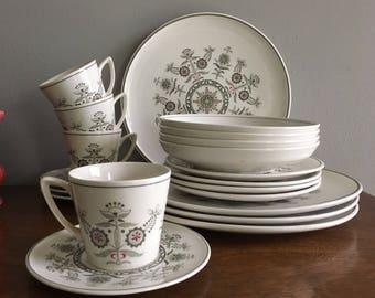 lancaster ironstone dinner plates set of 4 scandinavian design & Scandinavian plates | Etsy