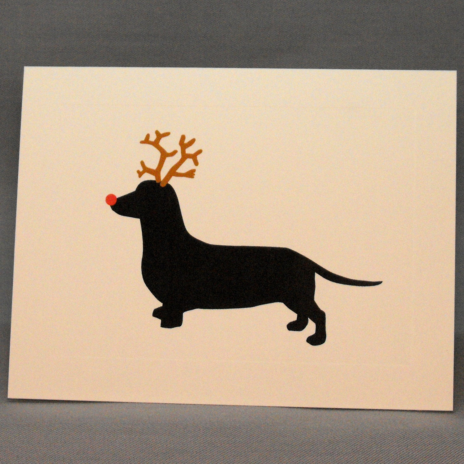 Holiday dachshund christmas card single greeting card zoom kristyandbryce Image collections