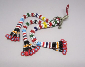 Colorful Handbag Charm - Long Bag Charm - Boho Accessories - Tassel Keychain - Hippie Keychain - Tribal Tassel - Vintage Tassel