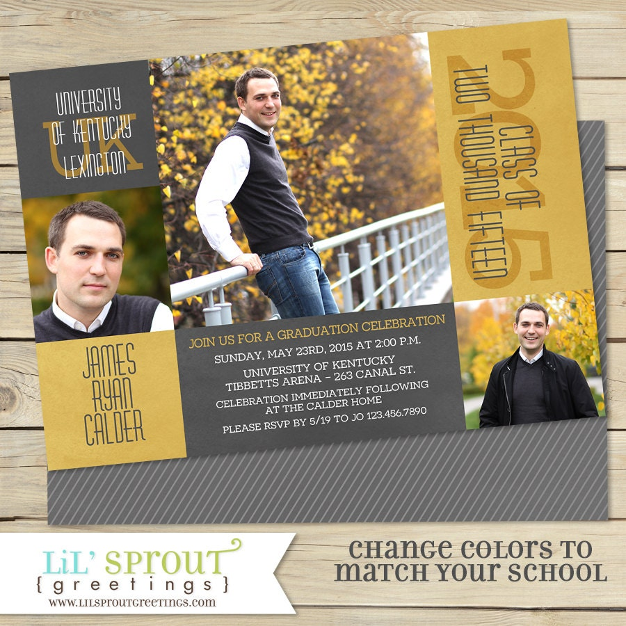 Class of 2018 graduation announcement high school or college zoom filmwisefo