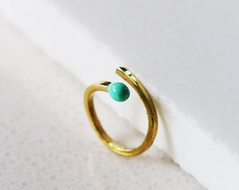 Green Match Ring / Linen Jewelry / Fun Jewelry / Everyday Jewelry / Fashion Rings / Rings