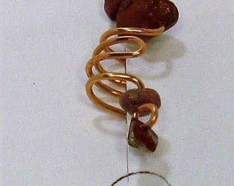 Small Red Jasper Ear Cuff FREE SHIPPING