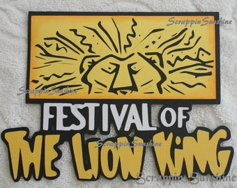 DISNEY Festival of the Lion King Die Cut Title Scrapbook Page Paper Piece - SSFF