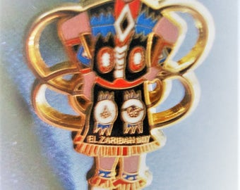 KACHINA Pin is 1 1/4 inch tall by 3/4 inch wide. Condition is LIKE NEW. Please see description area for more info