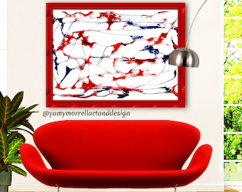Giclée Abstract Art-Fine Art Print-Multicolor print-Wall Art-Decoration-Artwork by Yamy Morrell
