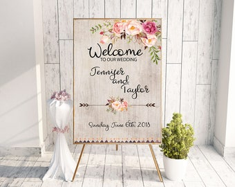 Bohemian printable, farm wedding decor, rustic country party, cheap wedding decor, ceremony signs, ceremony decor wedding say sign, southern