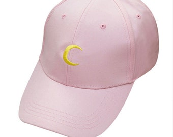 HEBA'S WORLD Pink Moon Panelled Cap