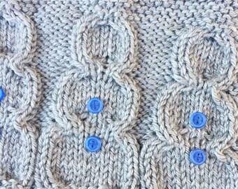 Snowman Scarf Knit Pattern
