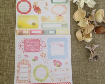 2 sheets of stickers for scrapbooking