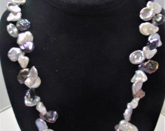 Multi-Colored Keishi Pearl Necklace