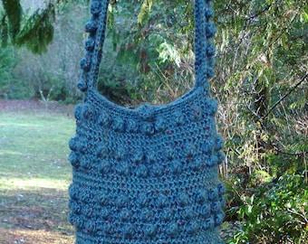 Popcorn Hobo Bag - PA-218 - Crochet Pattern PDF