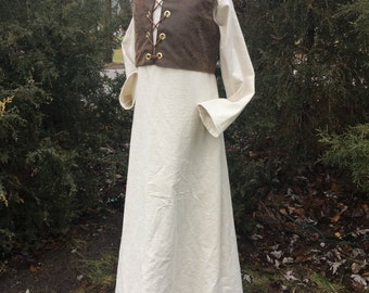 Medieval Clothing, children's historical clothing, theatre costumes, renfaire garments, tunic and vest, linen clothing,