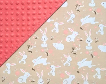 Bunny baby bedding Bunny blanket Bunny custom baby girl blanket baby shower gift Bunny nursery crib blanket Bunny nursery bedding