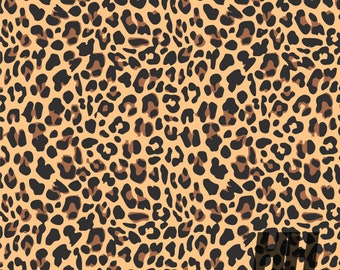 Leopard Print Vinyl * Craft Vinyl * Cheetah Pattern * Animal Print * Outdoor Vinyl * HTV