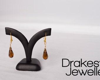 Smokey Quartz Tear Drop Earrings