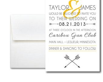 Arrows Entwined Wedding Invitation