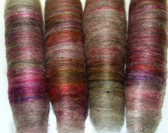 Mini Wool Rolags for Hand Spinning or Felting
