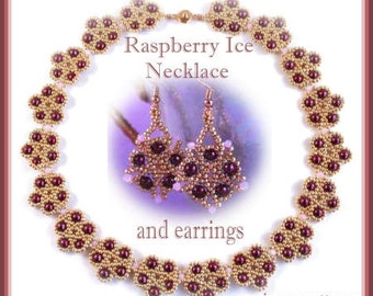 Beading tutorial - Raspberry Ice necklace - netting stitch
