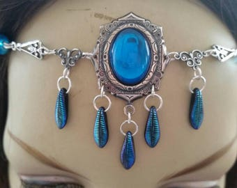 Cerulean Circlet of the Atlantis Guardian elven goddess druid bridal elven