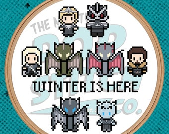 Game of Thrones - Winter is Here - Cross Stitch (PATTERN ONLY)