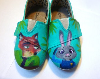 Zootopia Shoes, Hand-Painted