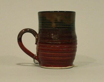 Coffee Mug Red and Copper