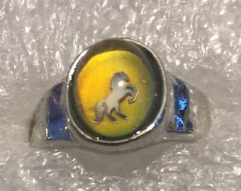 1970s Fancy CompanyTeen Mood Ring MUSTANG Design Sz 7