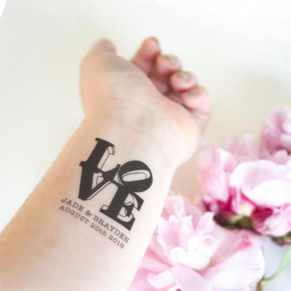 love sculpture temporary tattoos pack of custom tattoo. Black Bedroom Furniture Sets. Home Design Ideas