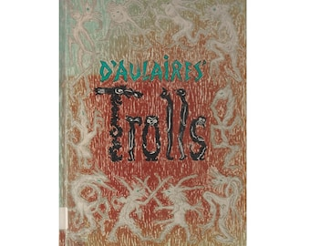 D'Aulaire's Book of Trolls, Ingri and Edgar Parin D'Aulaire, first edition, Norway troll lore and folktales, Norwegian folk tales, folklore
