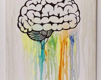 Brainwash - Acrylic on Canvas - 16x20