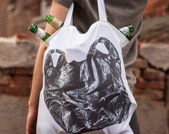 HOLZ Plastic-Bag Bag black or white