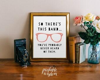 Funny printable wall art decor poster, typography digital printables custom hipster quote trendy Printable Wisdom