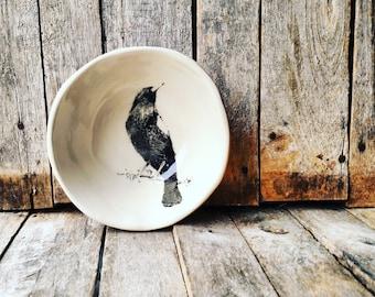 Black Bird Bowl Dish - Made to Order